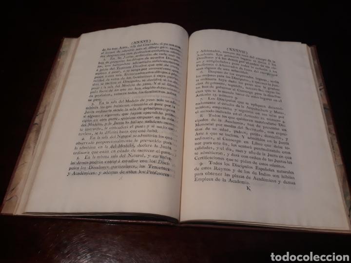 Libros antiguos: ESTATUTOS DE LA REAL ACADEMIA DE SAN CARLOS DE NUEVA ESPAÑA - EN LA IMPRENTA NUEVA MEXICANA - 1785 - Foto 24 - 183384338