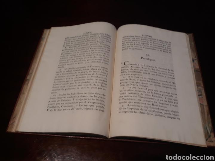 Libros antiguos: ESTATUTOS DE LA REAL ACADEMIA DE SAN CARLOS DE NUEVA ESPAÑA - EN LA IMPRENTA NUEVA MEXICANA - 1785 - Foto 39 - 183384338