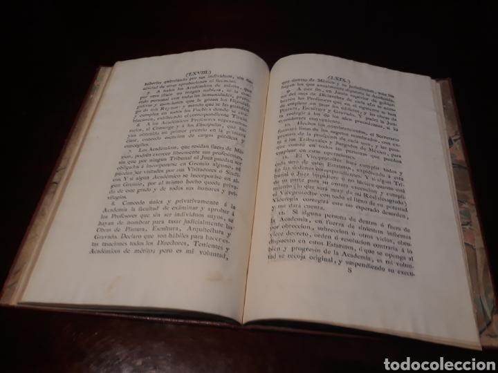 Libros antiguos: ESTATUTOS DE LA REAL ACADEMIA DE SAN CARLOS DE NUEVA ESPAÑA - EN LA IMPRENTA NUEVA MEXICANA - 1785 - Foto 40 - 183384338