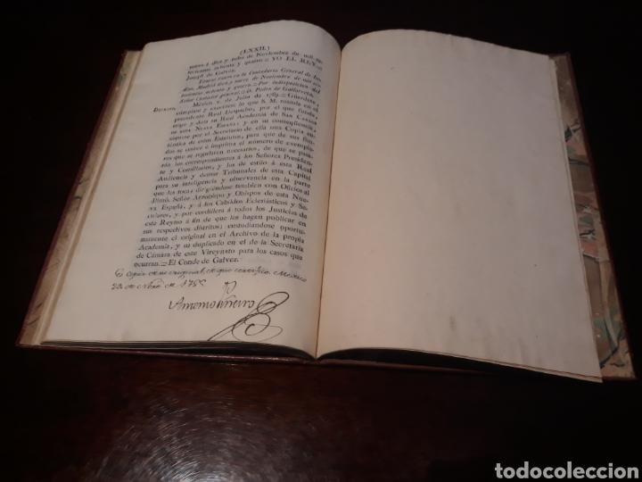 Libros antiguos: ESTATUTOS DE LA REAL ACADEMIA DE SAN CARLOS DE NUEVA ESPAÑA - EN LA IMPRENTA NUEVA MEXICANA - 1785 - Foto 42 - 183384338