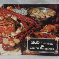 Libros antiguos: LIBRO 200 RECETAS DE COCINA BURGALÉSA. Lote 183425846