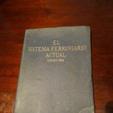 Livres anciens: EL SISTEMA FERROVIARIO ACTUAL SEGÚN LA ORGANIZACION DE LOS FERROCARRILES ALEMANES . EDICION 1924. Lote 183458396