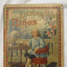 Libros antiguos: DEBERES DE LOS NIÑOS METODO DE LECTURA SATURNINO CALLEJA. MADRID 1897. Lote 183458415