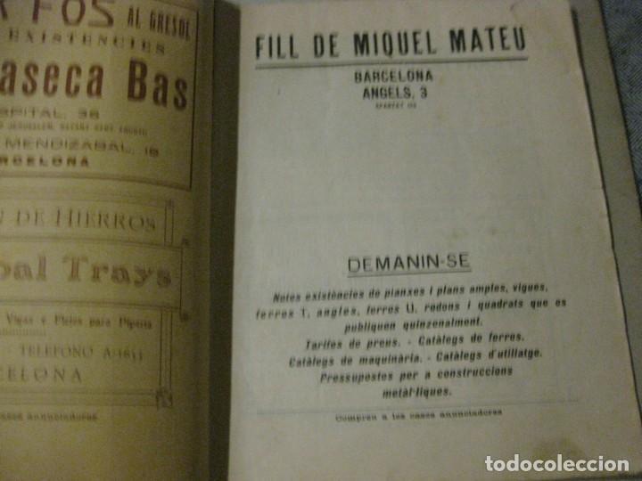 Libros antiguos: revista del gremi de serrallers i ferrers de barcelona de lart de la forja nº 21 año 1922 arquitect - Foto 2 - 183474981