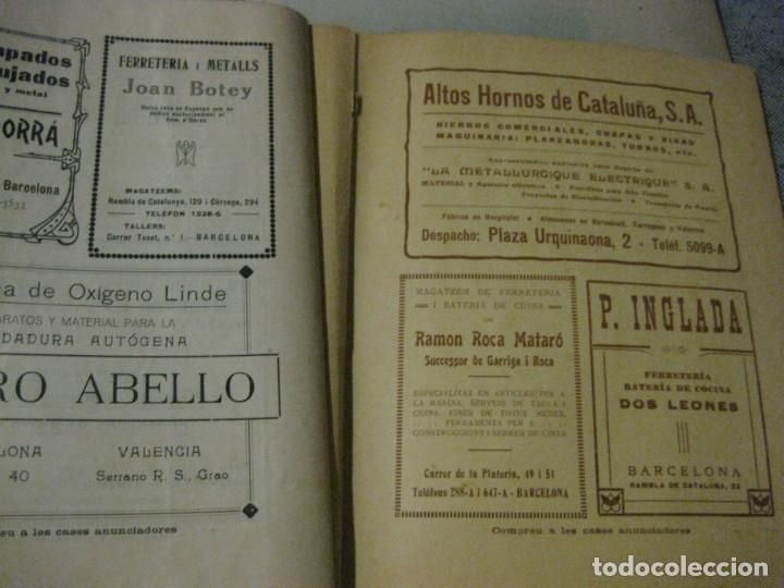 Libros antiguos: revista del gremi de serrallers i ferrers de barcelona de lart de la forja nº 21 año 1922 arquitect - Foto 6 - 183474981