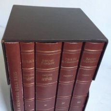 Libros antiguos: LES QUATRE GRANS CRÒNIQUES. 5 VOLS. - JAUME I - BERNAT DESCLOT - MUNTANER - PERE -LIMITADA NUMERADA. Lote 183507750