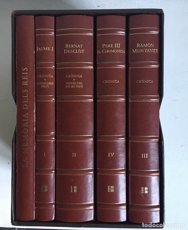 Libros antiguos: LES QUATRE GRANS CRÒNIQUES. 5 VOLS. - Jaume I - Bernat Desclot - Muntaner - Pere -LIMITADA NUMERADA - Foto 2 - 183507750