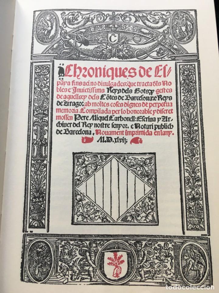 Libros antiguos: LES QUATRE GRANS CRÒNIQUES. 5 VOLS. - Jaume I - Bernat Desclot - Muntaner - Pere -LIMITADA NUMERADA - Foto 5 - 183507750