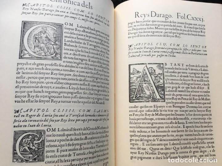 Libros antiguos: LES QUATRE GRANS CRÒNIQUES. 5 VOLS. - Jaume I - Bernat Desclot - Muntaner - Pere -LIMITADA NUMERADA - Foto 8 - 183507750