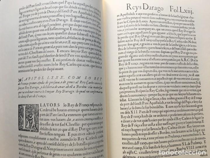 Libros antiguos: LES QUATRE GRANS CRÒNIQUES. 5 VOLS. - Jaume I - Bernat Desclot - Muntaner - Pere -LIMITADA NUMERADA - Foto 9 - 183507750