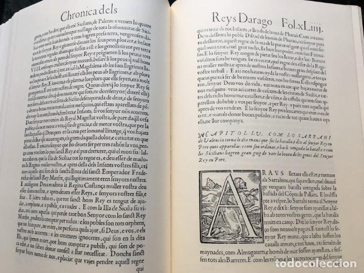 Libros antiguos: LES QUATRE GRANS CRÒNIQUES. 5 VOLS. - Jaume I - Bernat Desclot - Muntaner - Pere -LIMITADA NUMERADA - Foto 10 - 183507750