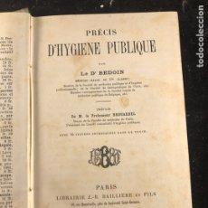 Libros antiguos: PRECIS D'HYGIENE PUBLIQUE PAR LE DR. BEDOIN. Lote 183557063