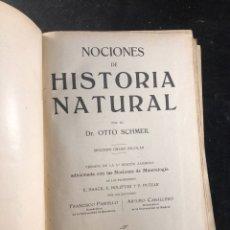 Libros antiguos: NOCIONES DE HISTORIA NATURAL. Lote 183560423