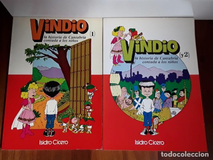 VINDIO. LA HISTORIA DE CANTABRIA CONTADA A LOS NIÑOS.TOMOS 1 Y 2. (Libros Antiguos, Raros y Curiosos - Literatura Infantil y Juvenil - Otros)
