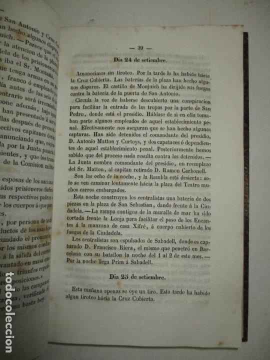 Libros antiguos: DIARIO DE LOS SUCESOS DE BARCELONA EN SETIEMBRE, OCTUBRE Y NOVIEMBRE DE 1843. - Foto 3 - 183705392