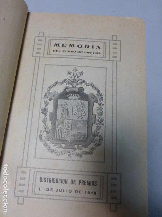 Libros antiguos: Colegio Ntra. Señora de la Bonanova DISTRIBUCIÓN DE PREMIOS MEMORIA DEL CURSO 1921 - 1922 - Foto 3 - 183860347