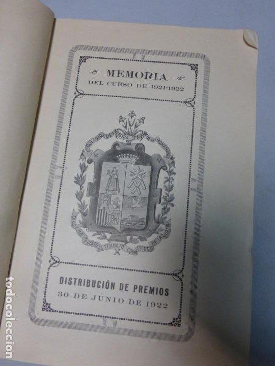 Libros antiguos: Colegio Ntra. Señora de la Bonanova DISTRIBUCIÓN DE PREMIOS MEMORIA DEL CURSO 1919 - 1920 - Foto 3 - 183860926