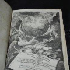 Libros antiguos: DE DUPLICI VIVENTIUM TERRA DISSERTATIO PERGAMINO ELZEVIRIOS 1650 GONZÁLEZ DE SALA IMP. ELZEVIRIANA. Lote 183962772