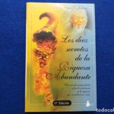 Libros antiguos: TÍTULO: LOS DIEZ SECRETOS DE LA RIQUEZA ABUNDANTE. AUTOR: ADAM J. JACKSON.. Lote 183994883