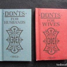 Libros antiguos: 2 LIBRITOS EN INGÉS `DON´TS FOR HUSBANDS AND WIVES. ´. Lote 183995068