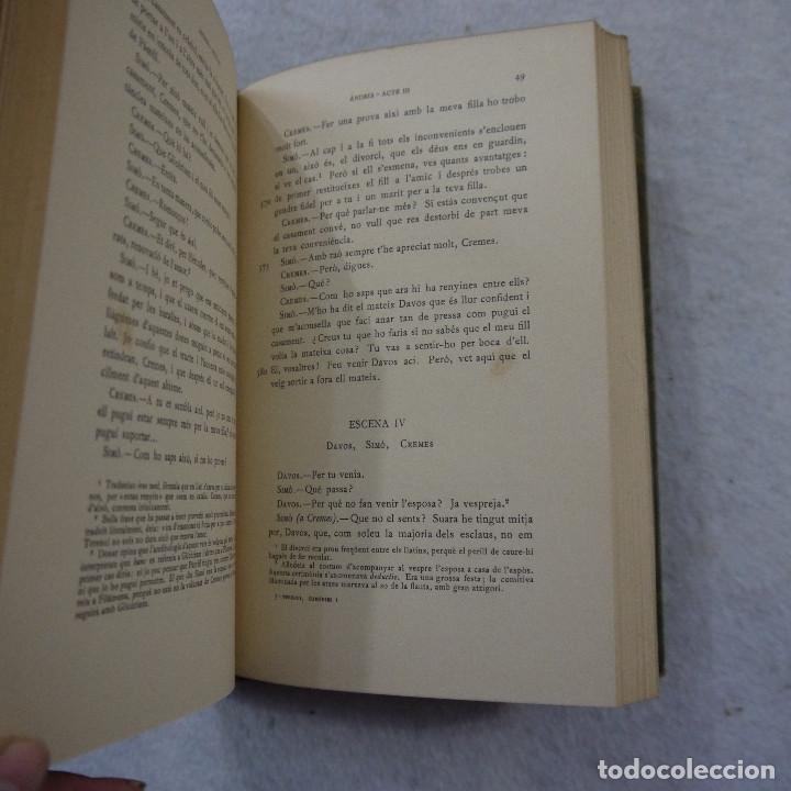 Libros antiguos: COMEDIES I. ANDRIA I EL BOTXI DE SI MATEIX - P. TERENCI AFER - FUNDACIÓ BERNAT METGE - 1936 - Foto 4 - 184022420