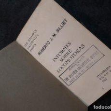 Libros antiguos: INFORME SOBRE LOCOMOTORAS 1923 THE BALDWIN LOCOMOTIVE WORKS . Lote 184195045
