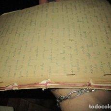 Libros antiguos: MANUSCRITO ANTIGUO LIBRO ORIGINAL INEDITO CARLOS HERRERO 120 PAGINAS. Lote 184232047