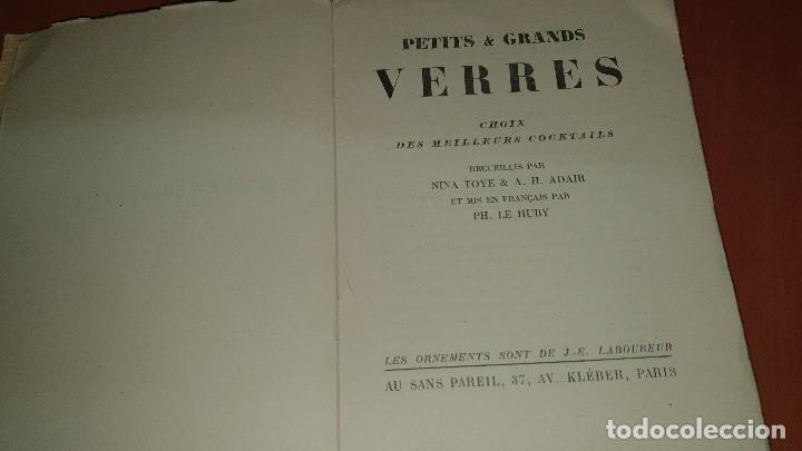 Libros antiguos: Petits et grands verres, cocktails, edicion francesa sin fechar, cocteles - Foto 4 - 184256508