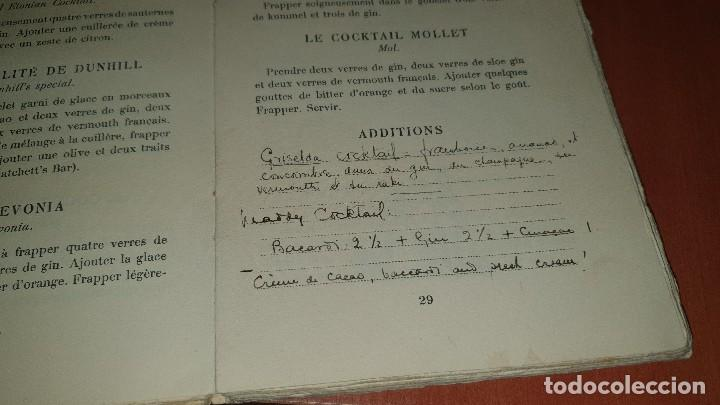 Libros antiguos: Petits et grands verres, cocktails, edicion francesa sin fechar, cocteles - Foto 6 - 184256508