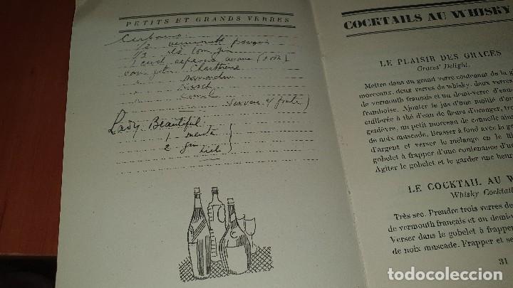 Libros antiguos: Petits et grands verres, cocktails, edicion francesa sin fechar, cocteles - Foto 7 - 184256508