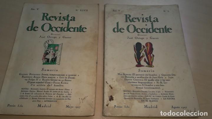 LA REVISTA DE OCCIDENTE - AÑO V Nº L Y XLVII - 1927 - DIRECTOR JOSÉ ORTEGA Y GASSET (Libros Antiguos, Raros y Curiosos - Historia - Otros)