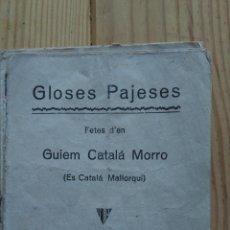 Libros antiguos: GLOSES PAJESES. Lote 184372695