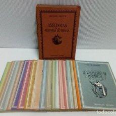 Libros antiguos: ANÉCDOTAS DE LA HISTORIA DE ESPAÑA. COLECCIÓN UNIVERSO TOMO IX. COMPLETA.. Lote 184376062