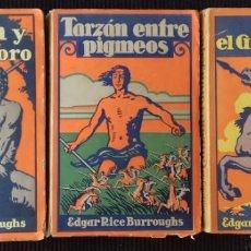 Libros antiguos: LOTE TRES NOVELAS DE TARZAN, EDGAR RICE BURROUGHS, GUSTAVO GILI 1928-1929. Lote 184405116