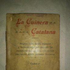 Libros antiguos: LA CUINERA CATALANA - BARCELONA AÑO 1904 - GUISATS DE PEIX.. Lote 195445622