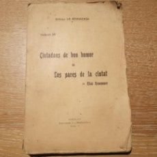 Libros antiguos: CIUTADANS DE BON HUMOR. ELIAS KRAEMMER. 1903. Lote 184495825