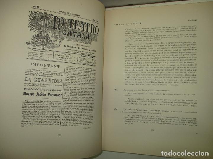 Libros antiguos: BIBLIOGRAFÍA CATALANA. PREMSA. 3 VOLS. GIVANEL I MAS, Joan. 1931-1937. - Foto 3 - 184557652