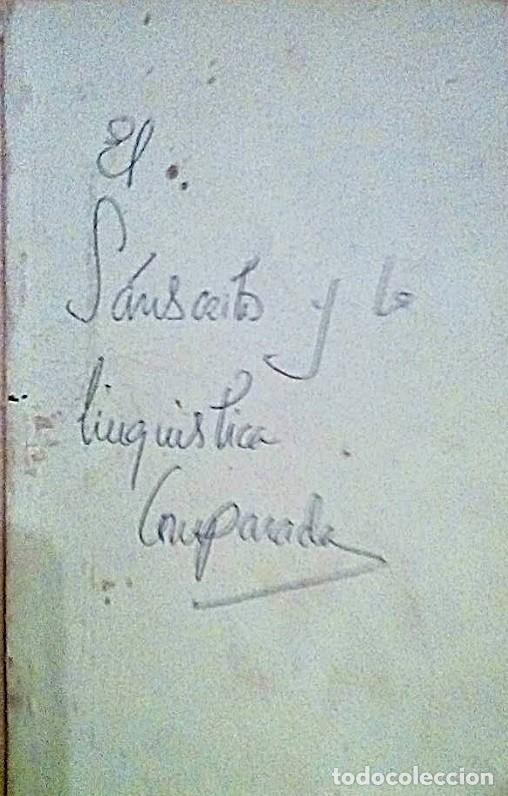 Libros antiguos: SANSCRITO Y LINGÜÍSTICA COMPARADA - Foto 3 - 184567962