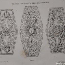 Libros antiguos: RECUEIL D'ORNEMENTS ET DE DECORATIONS S.XIX. 39 LITOGRAFIAS DE BENARD ADORNOS Y DECORACIONES. Lote 184581000