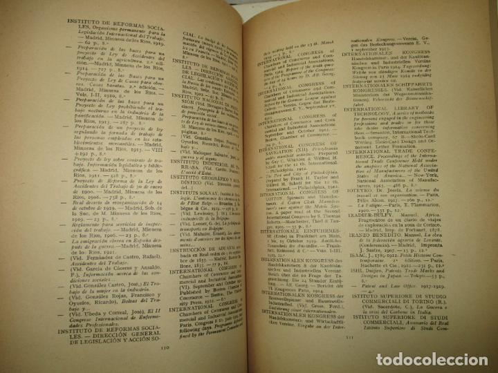 Libros antiguos: CATÁLOGO DE LA BIBLIOTECA DE LA CÁMARA DE COMERCIO Y NAVEGACIÓN DE BARCELONA.. 1921. - Foto 5 - 123140762