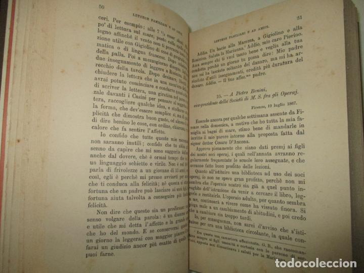Libros antiguos: LETTERE DI GASPERO BARBÈRA. Tipografo editore (1841-1879). - BARBÈRA, Gaspero (hijo). 1914. - Foto 4 - 123161288