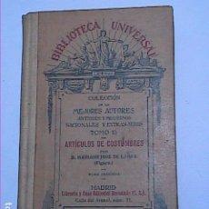 Libros antiguos: ARTÍCULOS DE COSTUMBRES. 1932. MARIANO JOSÉ DE LARRA.MADRID.. Lote 184766888