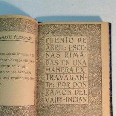 Libros antiguos: VALLE INCLÁN: CUENTO DE ABRIL. Lote 184820487