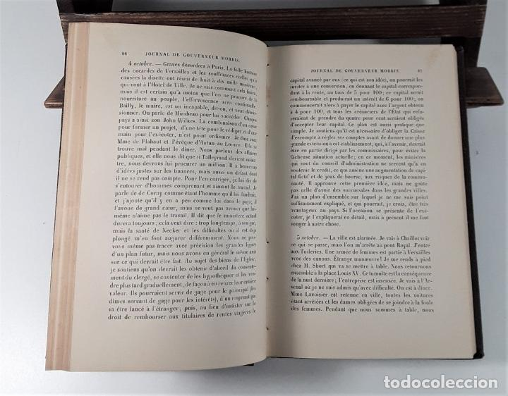 Libros antiguos: JOURNAL DE GOUVERNEUR MORRIS. E. PARISET. LIBR. PLON. PARÍS. 1901. - Foto 5 - 184920290