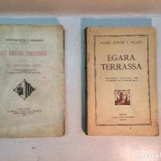 Libros antiguos: JOSEPH SOLER Y PALET: CENT BIOGRAFÍES TARRASSENQUES (1900) - EGARA TERRASA (1928). Lote 185125253