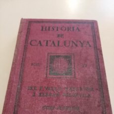 Libros antiguos: HISTÒRIA DE CATALUNYA VOL II F.VALLS TABERNER 1923. Lote 185738915
