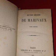 Libros antiguos: OEUVRES CHOISIES DE MARIVAUX. PARIS : HACHETTE, 1865 FRANCES. Lote 185773188
