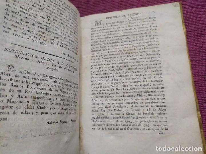 Libros antiguos: 1799. Estatutos y ordenaciones a los montes y huertas de la ciudad de Zaragoza. Medardo Heras. - Foto 4 - 185877901