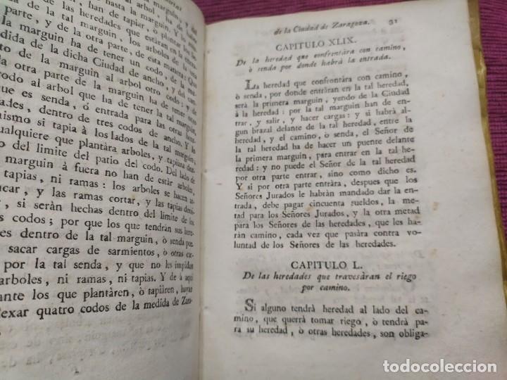 Libros antiguos: 1799. Estatutos y ordenaciones a los montes y huertas de la ciudad de Zaragoza. Medardo Heras. - Foto 10 - 185877901