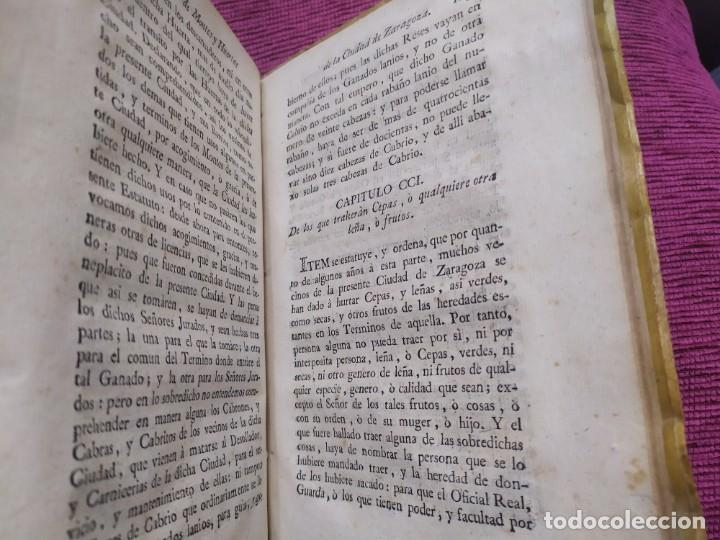 Libros antiguos: 1799. Estatutos y ordenaciones a los montes y huertas de la ciudad de Zaragoza. Medardo Heras. - Foto 13 - 185877901